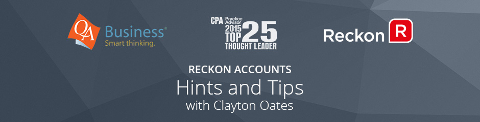 Reckon Accounts - Hints and Tips webinar Series for SMB's