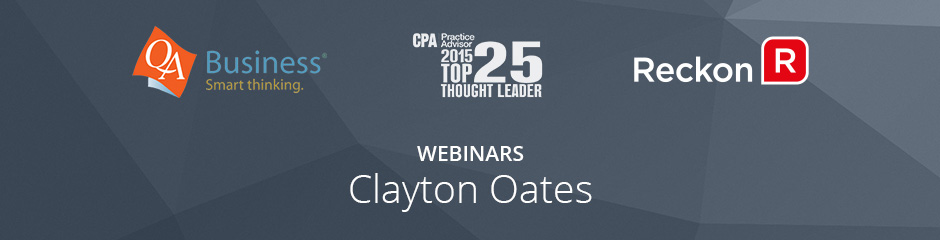 Webinars with Clayton Oates